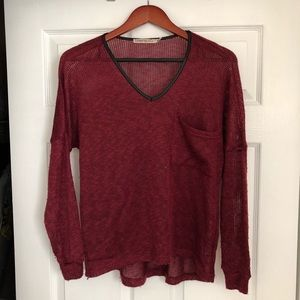 Red Knit Sweater Long Sleeve